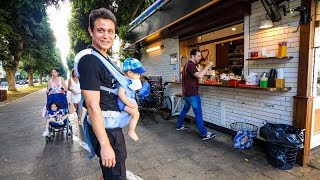 Tel Aviv Evening Walk -  Coffee Kiosk, Supermarket, and Neighborhood Tour!