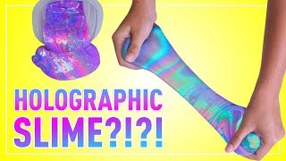 DIY HOLOGRAPHIC SLIME | How to Make 4 Rainbow Colored Holo Slimes!