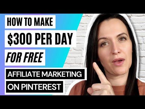 $300 Per Day Affiliate Marketing For FREE On Pinterest | Full Tutorial For Beginners | FREE Bonuses!