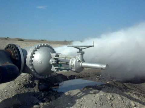 Nevada Geothermal Power's Blue Mountain 'Faulkner 1' Power Plant Steam Blow and Pipe Cleaning