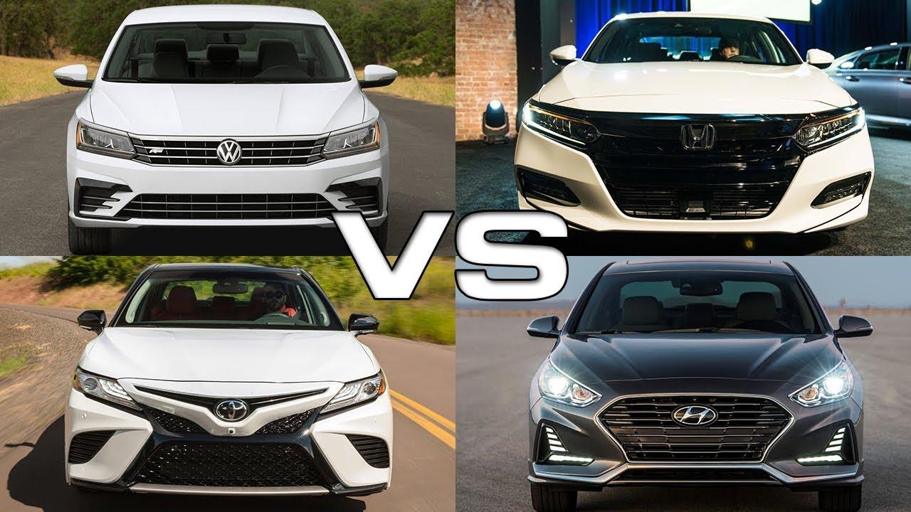 Volkswagen Passat vs Honda Accord vs Toyota Camry vs Hyundai