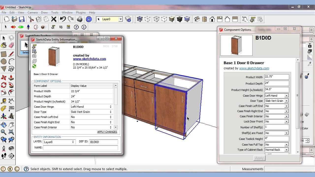 Sketchup Plugin For Components And Attributes Youtube