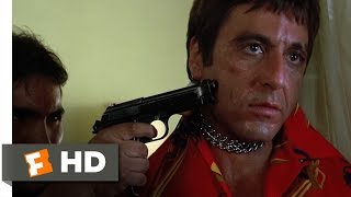 Scarface 1983 - Chainsaw Threat Scene 28  Movieclips