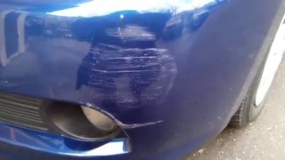 видео Накладка на задний бампер Nissan Almera G15 2013+