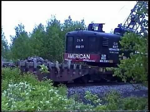 american self propelled rail crane north bay ont  1999