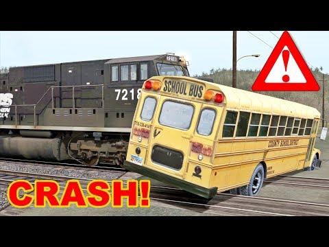 School Bus Train Crash Youtube