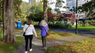 Vancouver STREET END-TO-END WALK: COMOX-HELMCKEN GREENWAY, PT. 1 - COMOX STREET Heading East
