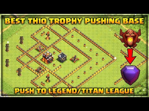 Best Th10 Trophy Base Push to Titan/Legend League -Never get 3 starred | Clash of Clans