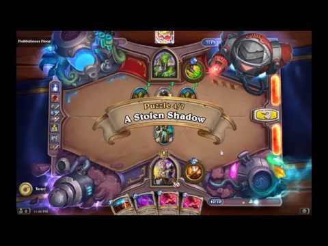 Solution Puzzle Lab Board Clear: A Stolen Shadow - Flobbidinous (4/7), Hearthstone Boomsday