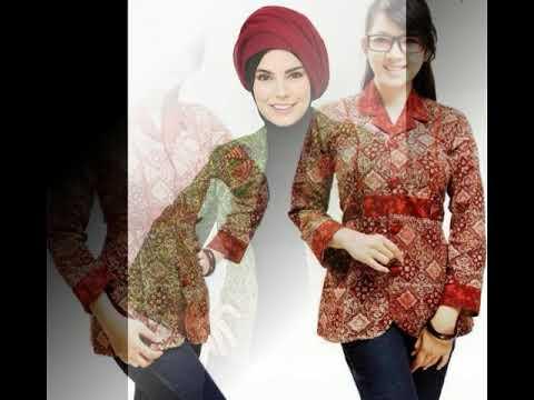 Model Baju Batik Atasan Wanita Terbaru Dan Modern