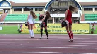Наташа Величко с группой поддержки на открытии Чемпионата Беларуси по легкой атлетике.