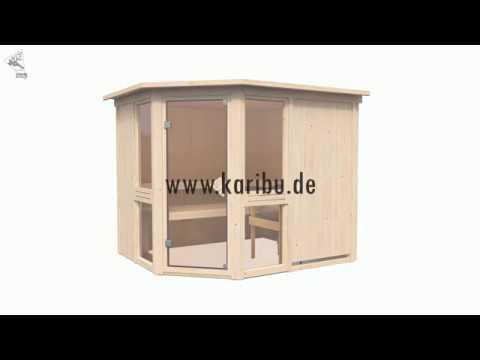 Heimsauna 68mm Systembau Sauna Von Der Marke Karibu Youtube