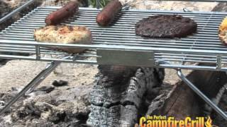 Explorer Grill | Perfect Camp Fire Cooking Grill For Open Pit Barbecue (bbq) & Grilling