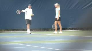 maria Sharapova practice us open 2012