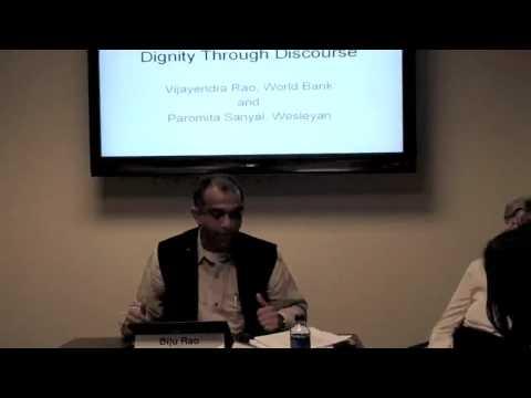 Dignity Through Discourse: Democracy Seminar with Vijayendra Rao, World Bank