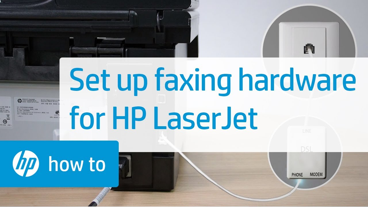 Setting Up The Hardware For Faxing On An Hp Laserjet