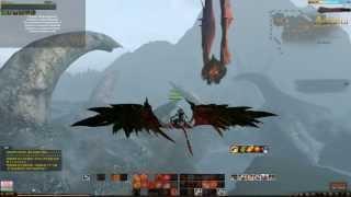 Взлет дракона - глайдер с Кракена (морского босса Archeage)