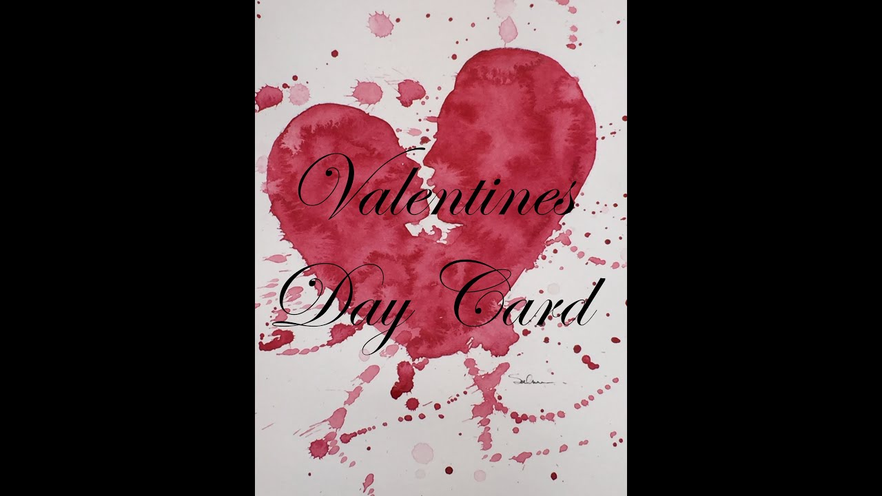 How to Paint a Valentines Card in Watercolor Watercolour Heart – Valentines Photo Card