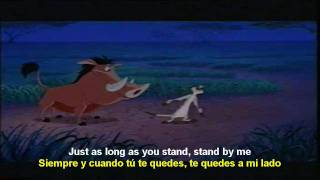 Stand by me - Timon y Pumba [Ben E. King] (english - spanish) lyrics  SUBTITLES SUBTITULADO