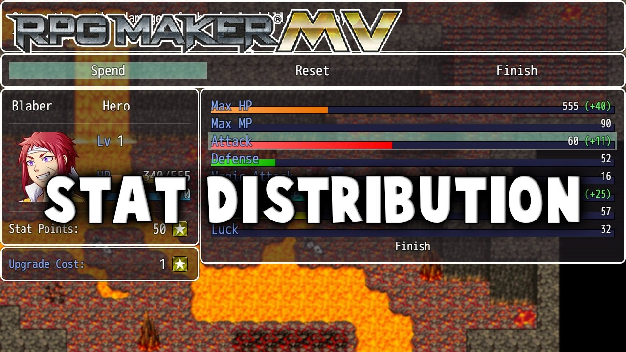Stat Distribution – MV Plugin – RPG Maker MV Plugins