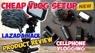 CHEAP VLOG SETUP FOR CELLPHONE OR MOBILE PHONE | ANDOER PRODUCTS REVIEW | Lazada Haul
