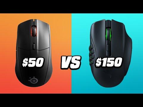 $50 vs $150 Wireless Gaming Mouse: Razer Naga Pro VS Steelseries Rival 3 - Is It Worth It?