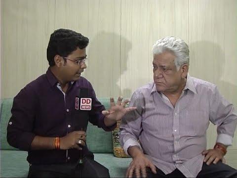 DD News- Aditya Shrivastava interview with Actor Om Puri - 2015