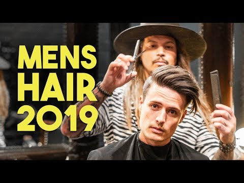 Mens Hair | Modern Side Swept Haircut & Style Tutorial 2019