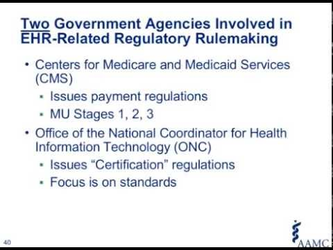Electronic Health Records – Meaningful Use, Certification, and the Regulatory Rulemaking Process