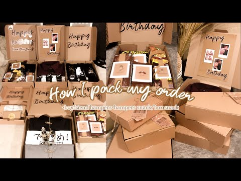 How I pack my orders |snack box|hampers lowbudget |BoyfriendHampers |HampersSnack |aesthetic packing