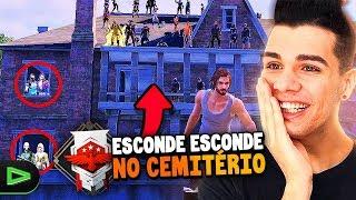 ESCONDE ESCONDE NO CEMITÉRIO DO FREE FIRE!!!