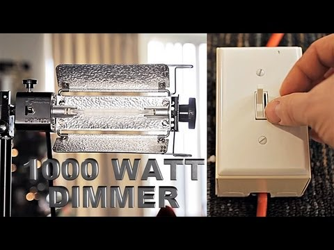diy light dimmer for video 1000 watt with epic fail. Black Bedroom Furniture Sets. Home Design Ideas