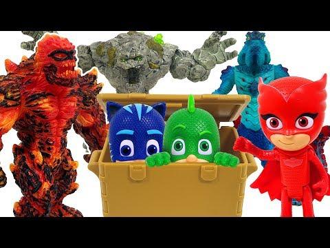 PJ Masks! Retrieve the treasures of El Dorado from the monsters! ❤️ RACHAMAN TOY