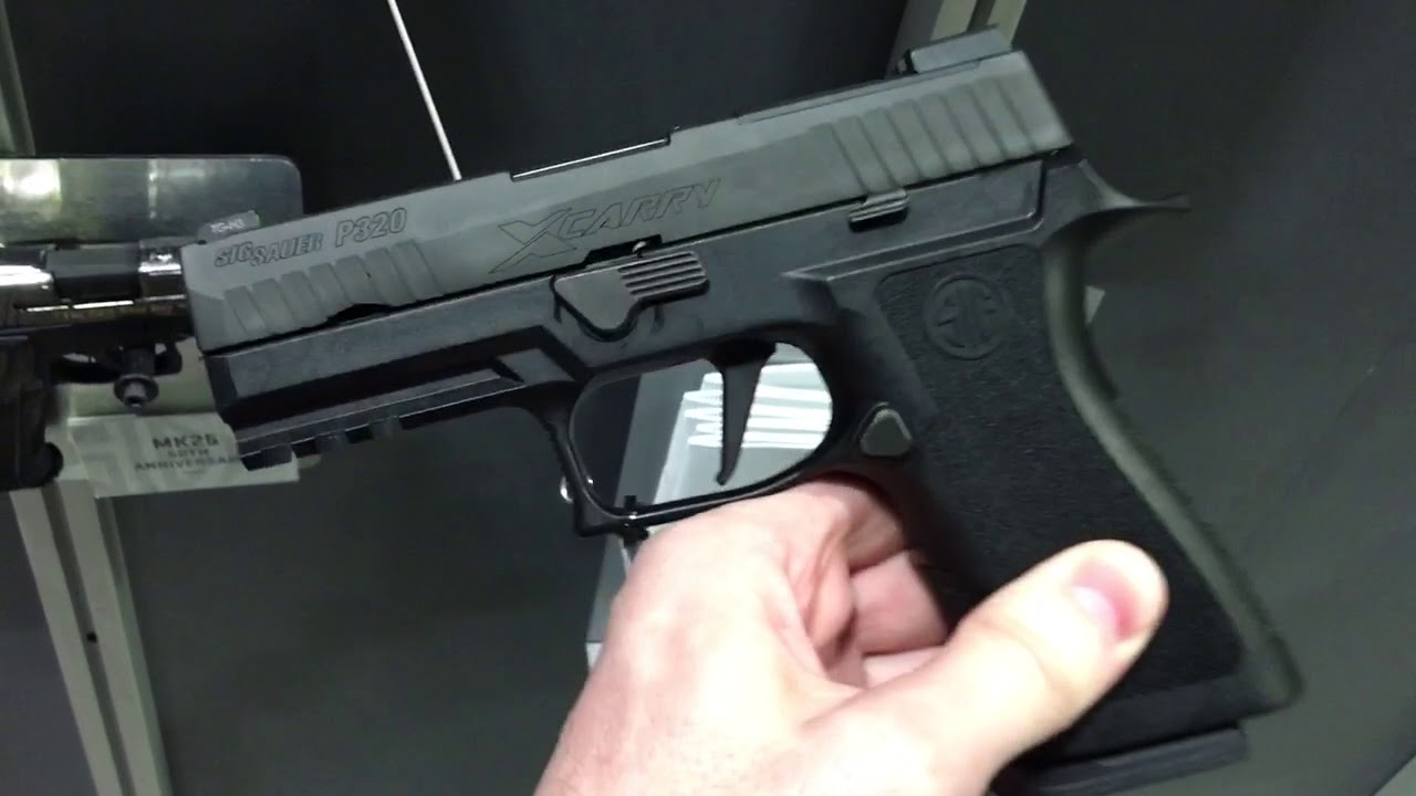SIG Sauer SIG P320 9mm X-Carry Combat/Tactical Pistol at SOFIC 2017 Part 1