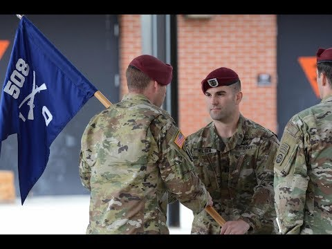 82nd Airborne Division Change of Command for Delta Company 1 508 PIR 3BCT on April 9 2018