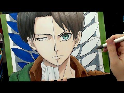 Speed Drawing - Levi | Eren (Shingeki no Kyojin / 進撃の巨人)