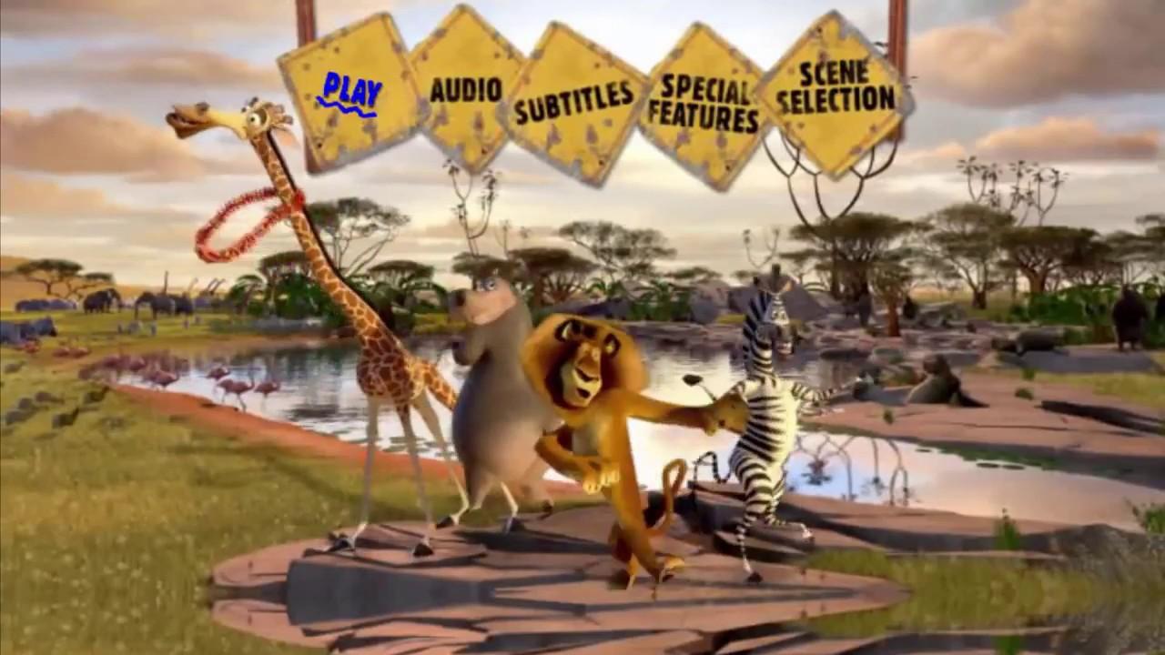 Madagascar: Escape 2 Africa MENU DVD HD (2008)