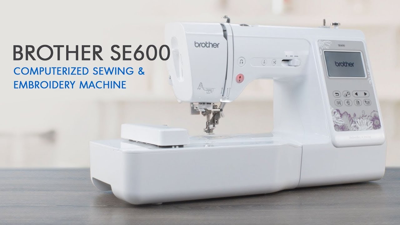 fac2f481278 Brother SE600 Computerized Sewing and Embroidery Machine with 4