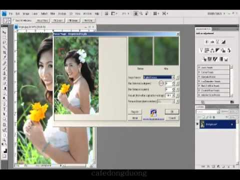 Photoshop CS4 - Phan 1 - Bai 30 - Xu ly anh bi nhoe