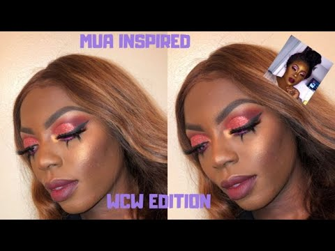 DRAMATIC GLITTER CUT CREASE WITH BOTTOM LASHES | INSPIRED MAKEUP/WCW (MUA EDITION) | MICHELLE IYERE