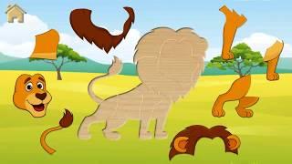 Детские Пазлы # 2 Веселые Животные!