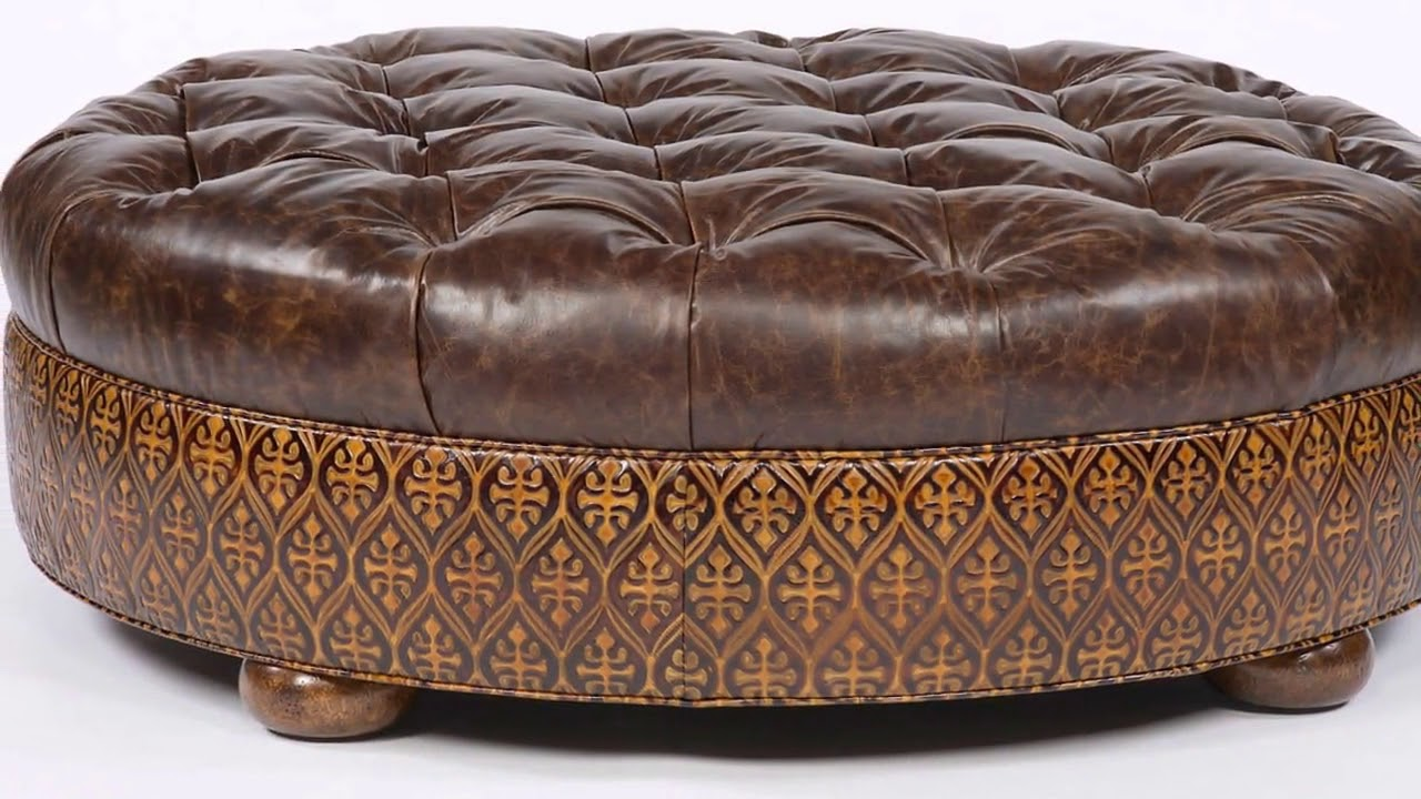 - Oversized Round Ottoman Coffee Table Designs - YouTube