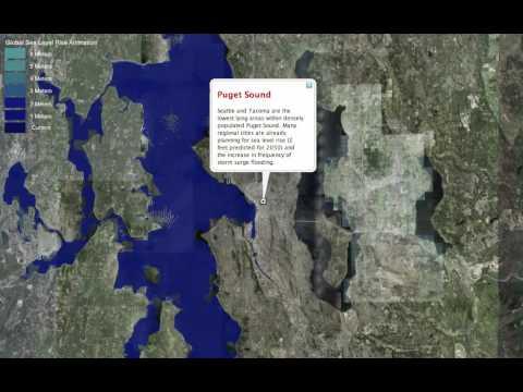 Sea Level Rise Animation in Google Earth
