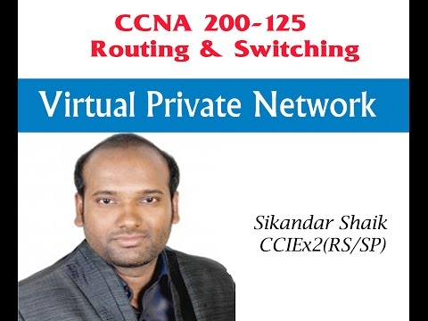 Virtual Private Network - Video By Sikandar Shaik    Dual CCIE (RS/SP) # 35012
