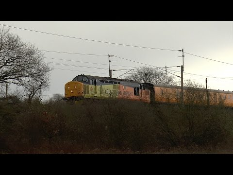 37175 3Z02 Derby RTC - Carlisle High Wapping Sidings @ Keckwick Brook 26/03/16