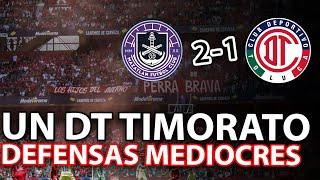 ANÁLISIS DEL MAZATLAN FC 2-1 TOLUCA FC | 1x1 CALIFICACIONES | DEFENSAS TIBIOS Y DT TIMORATO