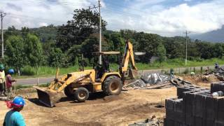 Preparación del suelo para un pavimento de concreto