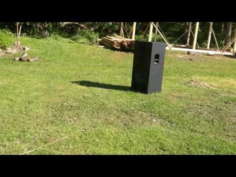 QSC PL218 + RCF PA custom build speakers test [DIY]