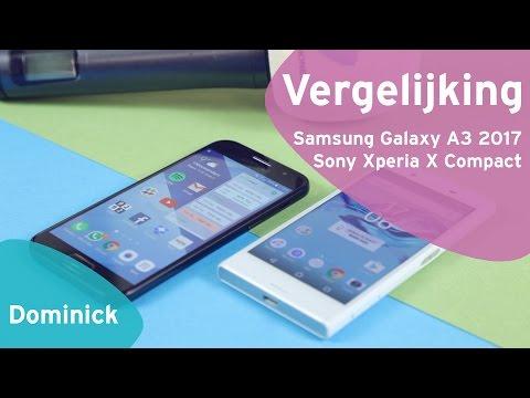Samsung Galaxy A3 2017 vs Sony Xperia X Compact review (Dutch)