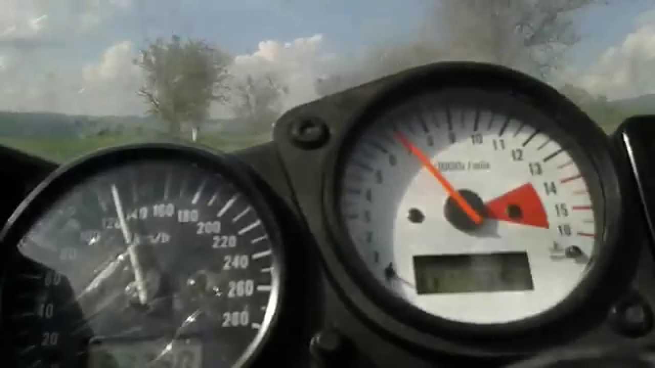 SUZUKI GSXR 600 SRAD TOP SPEED - YouTube